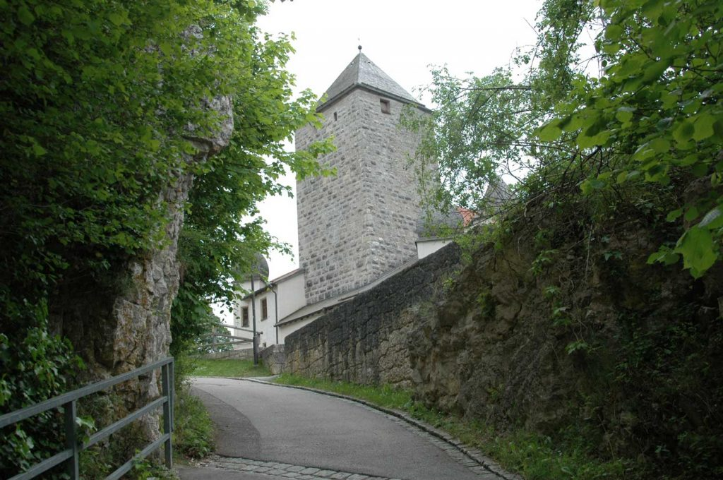 Aufgang zur Burg Prunn Altmühltal