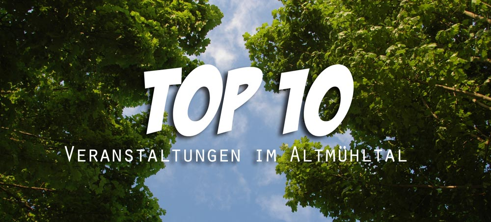 Top Events Sommer 2016 Altmühltal