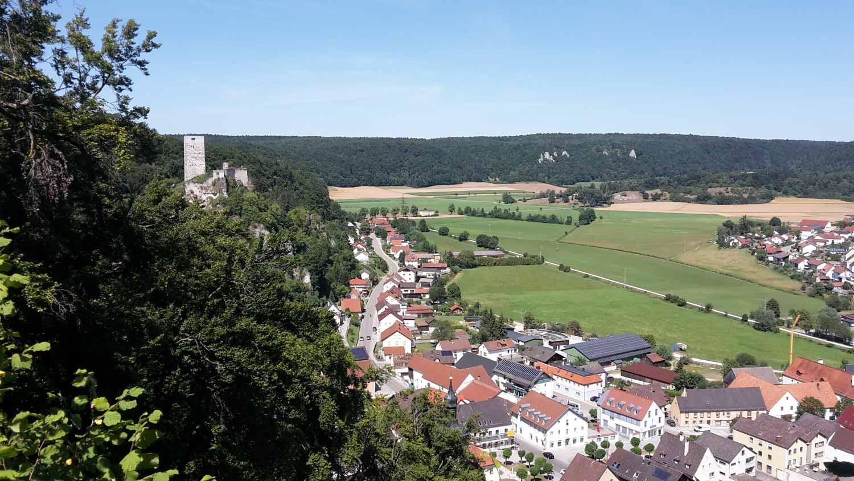 Ausblick vom Wanderweg in Wellheim