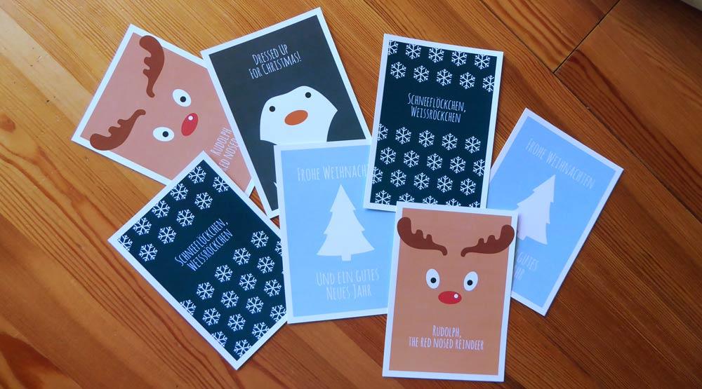 Kostenlose Weihnachtskarten zum Download