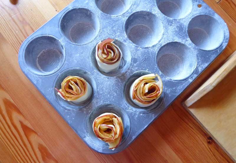 Apfelröschen Zubereitung