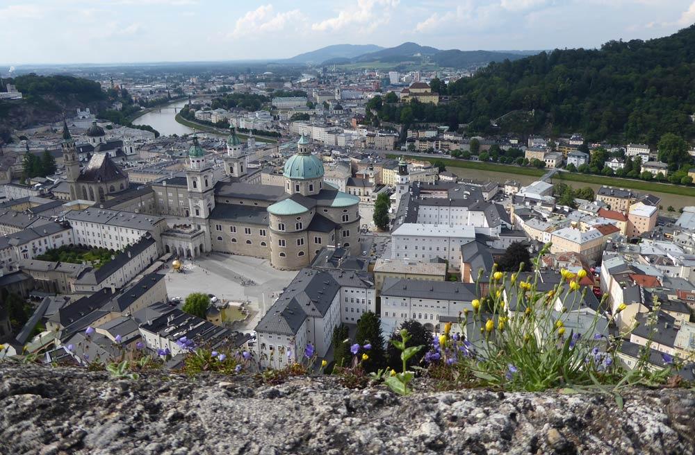 Salzburg Hohensalzburg Ausblick
