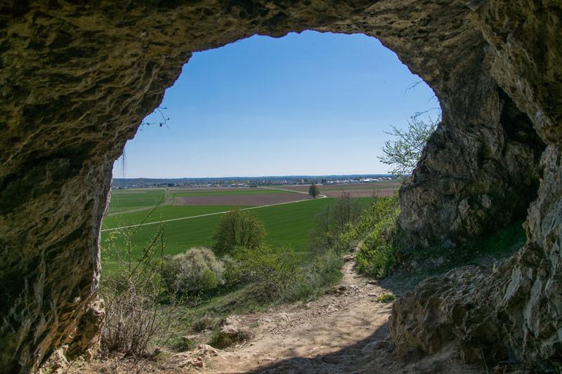 Ausblick von den Mauerner Höhlen