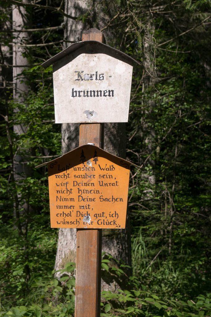 Karlsbrunnen Saußbachklamm