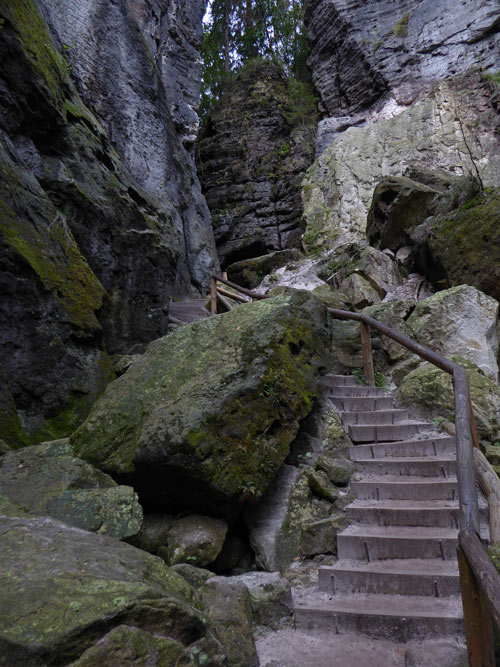 Sächsische Schweiz wandern Aufstieg Bastei