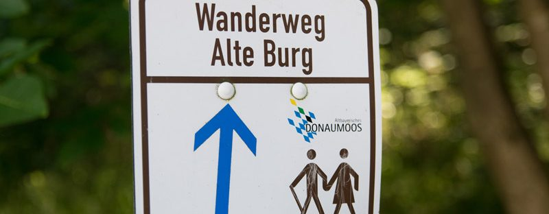 Wanderweg Alte Burg Donaumoos