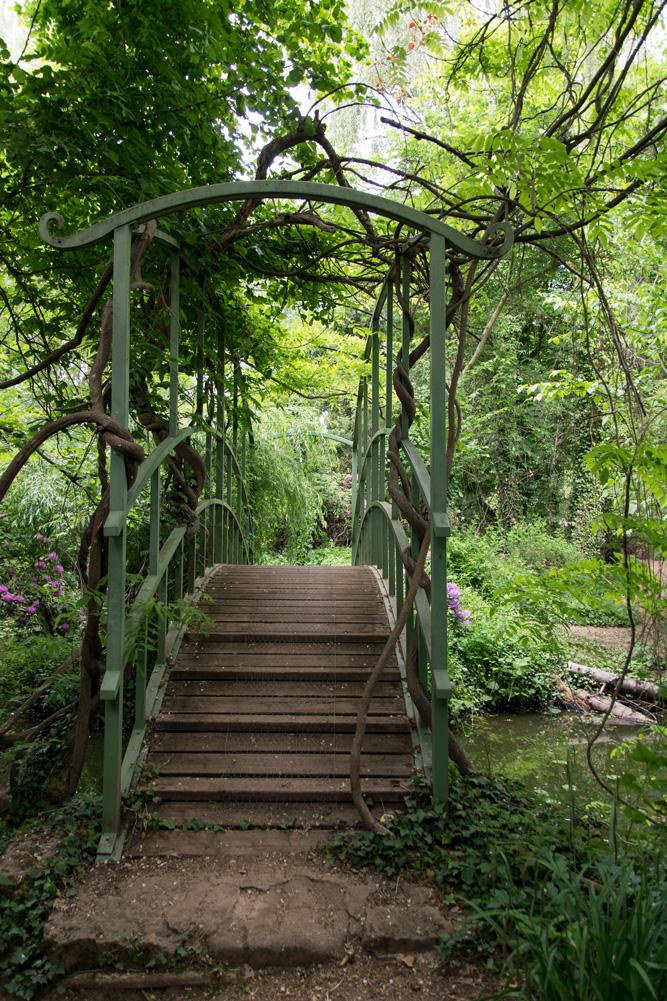 Brücke asiatisch Schlosspark Dennenlohe